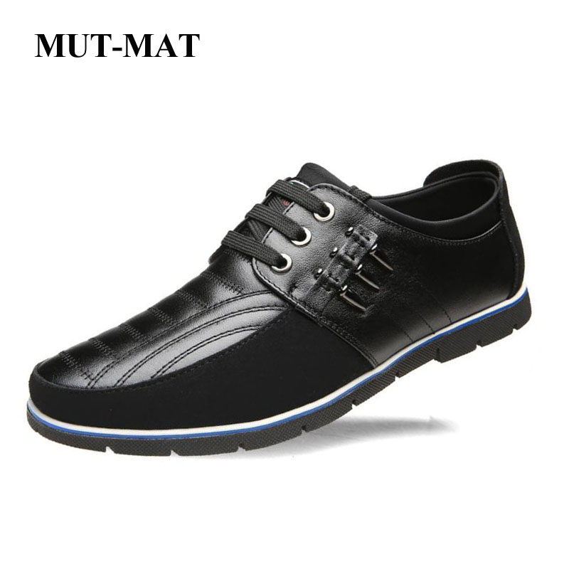 2019 New Men's Casual Shoes High Quality   Leather   Shoes Increased Men's Shoes Bullet Decoration Large Size 37-47 Men's Shoes