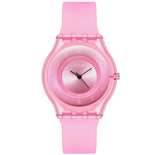 цена на 2019 Fashion Women Girl Dress Bracelet Watch Quarzt Clock Plastic Band Analog Quartz Wrist kids Watch