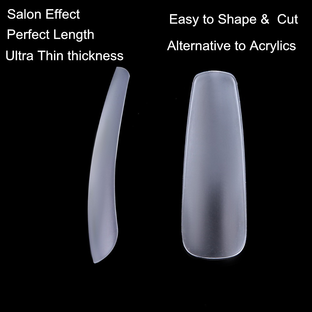 Makartt Clear Coffin False Nail Tips 12 Sizes Full Cover Acrylic Ultra Thin ABS Material Nail Art Tips 600pcs Pack A0492 in False Nails from Beauty Health