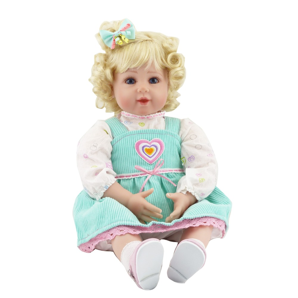 Lovely Silicone Reborn Babies Doll Toy 55cm Lovely NewBorn Princess Girl Baby Doll Girl Brinquedos Fashion Play House Toy 55cm full body silicone reborn baby doll toy princess newborn girl babies doll lovely birthday gift play house toy girl brinque
