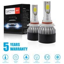 цена на Super Bright Car Headlights 9006 LED Headlight Lamp Light Bulbs Conversion Kit 1950W 292500LM HID Automobiles Headlamp 6000K