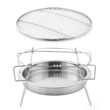 Foldable Portable Cooking Stainless Steel Barbecue Charcoal Stove