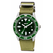 hot deal buy military mens watch nylon bane changeable strap rototary bezel steel case green color dial mens watches unique design watches