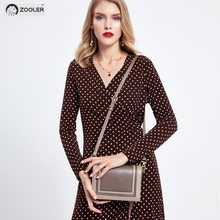 цены ZOOLER genuine leather shoulder bag luxury handbags women bags designer Small bag fashion ladies bags high quality female YJ208