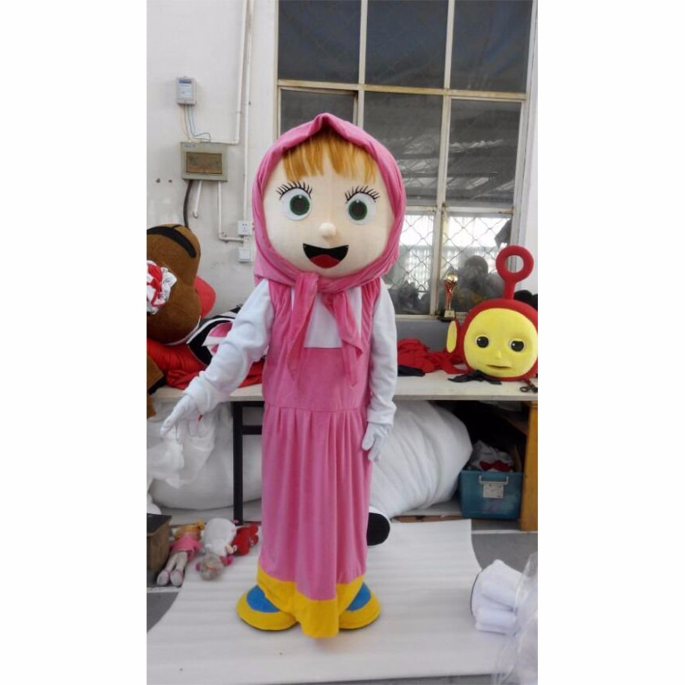 Masha and The Bear Mascot Costume Adult Unisex Cartoon Character Mascot Costumes Custom Made L0713