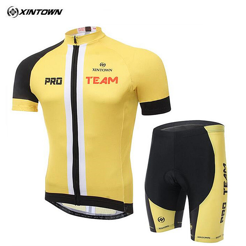 ФОТО 2017 Summer Cycling Jersey yellow ciclismo ropa tops Team bike bicycle clothing jacket t-shirt Man's Cycling short sleeve suit