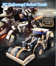 Интеллектуальный пульт дистанционного управления RC робот-трансформер уплотнитель бульдозер грузовик 2.4 г 45 см большой Инженерная diamond робот игрушка