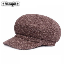 XdanqinX Autumn Winter Warm Hats For Men Women Western European Style Womens Newsboy Caps Fashion Trend Mens Beret Couple Hat