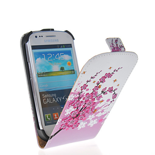 Free shipping New arrival Fashion printing pattern flip hard back case cover for Samsung Galaxy S3 Slll Mini I8190 with 6 Design