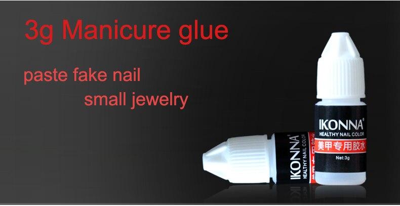Ikonna Nail Art Decorations Sticky Rhinestones Stickers Super Glue ... 2521e1286de8