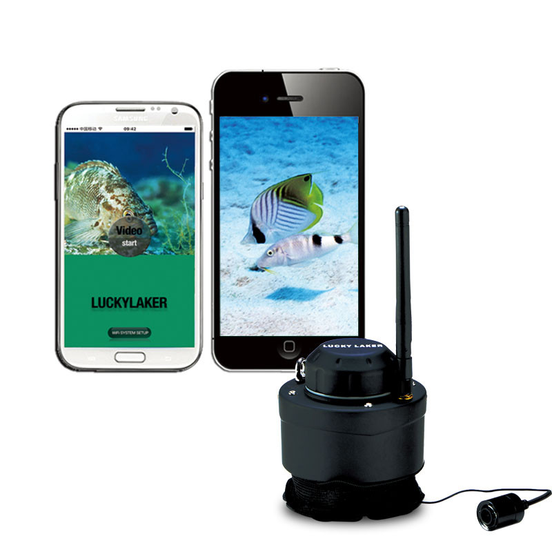 LUCKY FF3309 Wifi Underwater Camera Fish Finder 80M Range Wireless Submarine Fish Inspection Compatible With Android IOS Apps автомобиль газ 3309 бес шасси