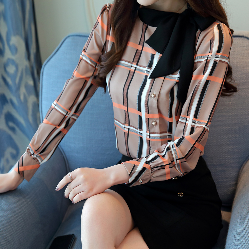 2018 New fashion woman   blouses   long sleeve   shirt   women plus size   blouses   women clothing female palid   blouse     shirt   top blusas