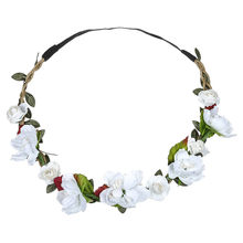 Women Hair Accessories Ladies Floral Scrunchies Festival Wedding Garland Flower Crown Females Beach Hair Ring резинка для волос(China)