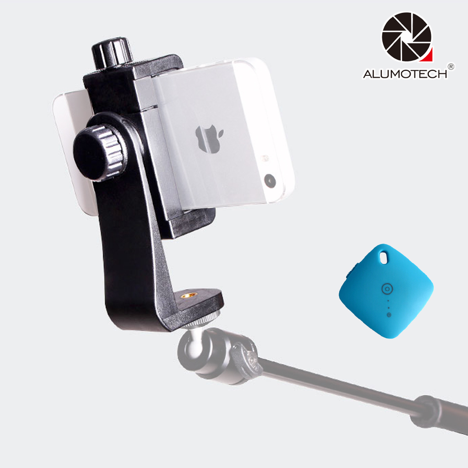 Clip Bracket Multi-Clamp Ajustable Smart <font><b>Phone</b></font> Holder For <font><b>Stand</b></font> Selfie Video Tripod Monopod Facebook Travel Photography