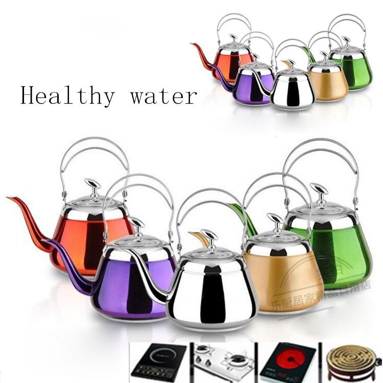 5 barevných volitelných silných nerezových vodovodních nádob Konvice kreativní konvice pro indukční vařič kuchyňské nástroje