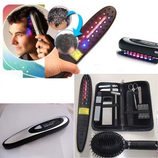 Electric Laser Hair Growth Comb Hair Brush Grow Laser Hair Loss Therapy Comb Regrowth Device Machine Ozone Infrared Massager free shipping 2016 new arrival usb rechargeable electric laser hair growth massager comb brush for hair loss treatment