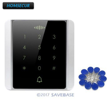 Waterproof Touch Keypad 125Khz RFID Proximity Reader Access Control+10* Keyfobs raykube access control kit electric strike lock metal case touch keypad frid reader id keyfobs exit