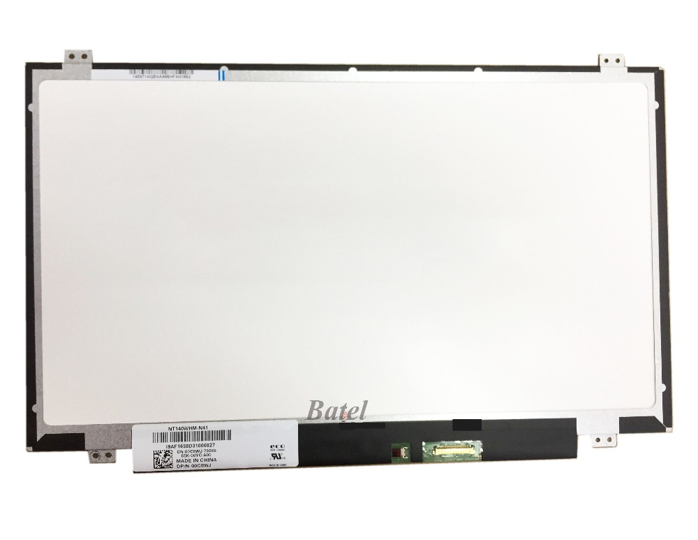Computer & Office For Boe Nt140whm-n41 For Dell Dp/n 00c8wj 0c8wj Led Screen Lcd Matrix For Laptop 14.0 Hd 1366x768 30pin Matte Replacement