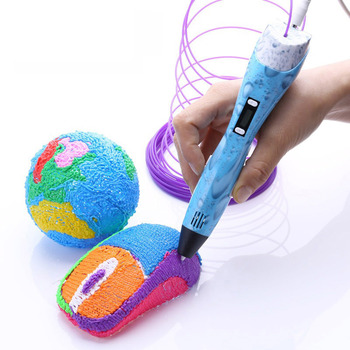 Aveiro 3D Pen with Adjustable Spinning Speed and Unlimited Print Range Supports PLA Filaments