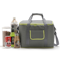 18L Large Thicken Folding Fresh Keeping Waterproof Nylon Cooler Bag Lunch Bag For Steak Insulation Thermal