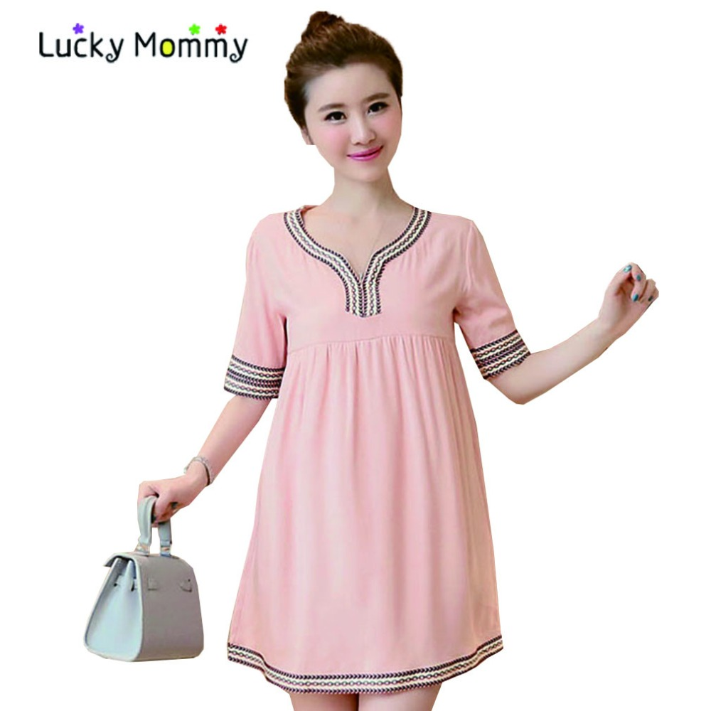 Aliexpress buy fashion loose casual maternity dresses aliexpress buy fashion loose casual maternity dresses elegant embroidered slim maternity dress comfortable pregnancy clothes ropa premama from ombrellifo Image collections