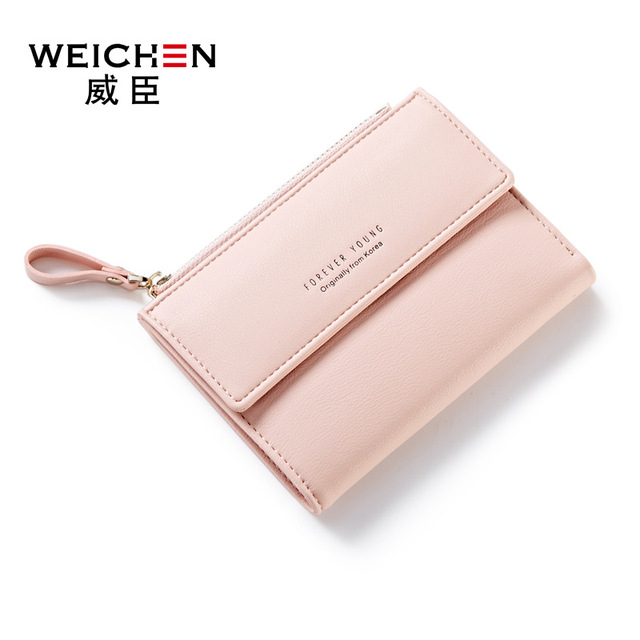 986dcfbc8e1 Kleine Mooie roze Geld portemonnee kaarthouder meisjes slanke portemonnee  hasp ontwerp leuke dames purse PU lederen