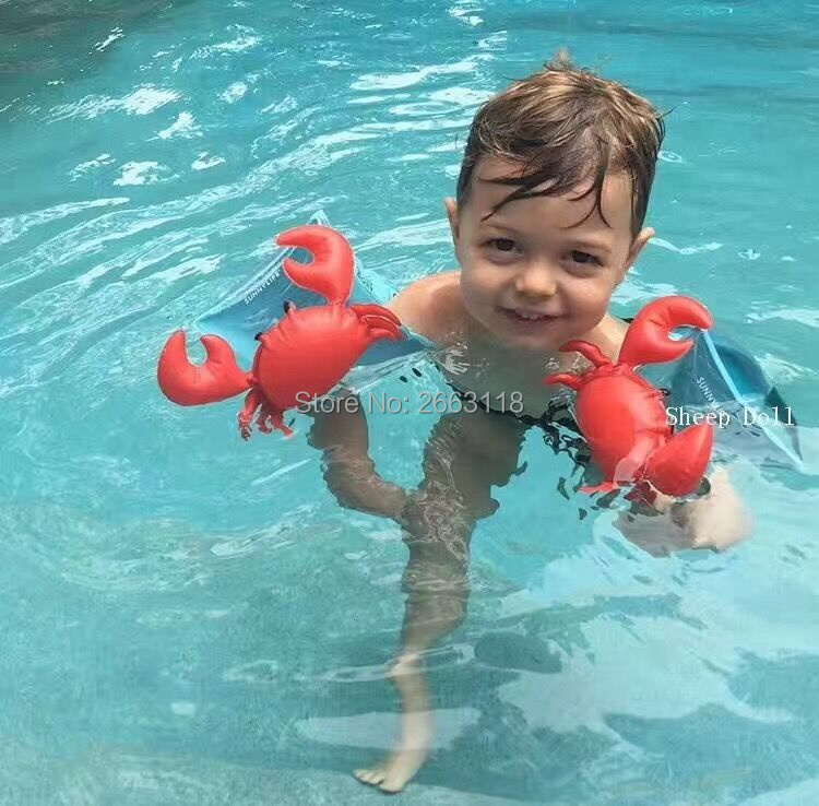 Inflatable Flamingo Armbands Float Crab Children Inflatable ArmBands Baby Water Float Swimming Pool Trainer Accessories