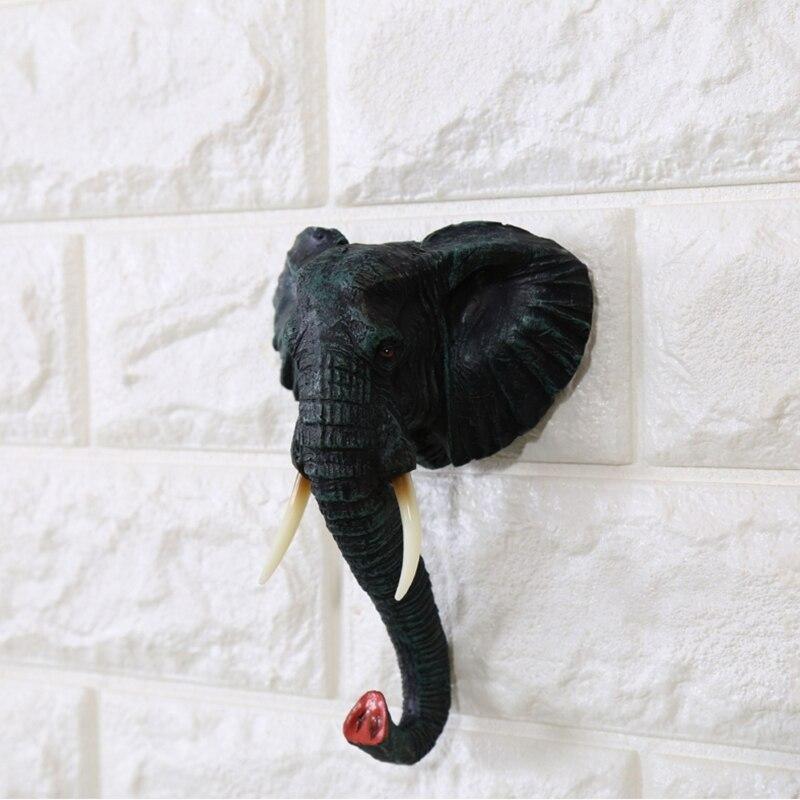 Hotel home cafe wall hook animal shape hook profile (9)_