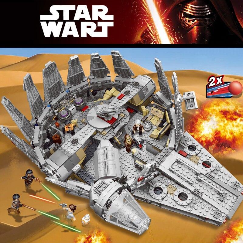 Étoile Faucon Millenium Chiffres Wars Modèle Blocs De Construction Inoffensif Briques Éclairer Compatible LegoINGLYS StarWars 10179 Jouet