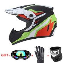 Motorcycle Helmet Full Face Helmet Casco Moto Motocross Helmet Motor Kask Capacete Da Motocicleta Racing Capacete Moto Glasses недорго, оригинальная цена