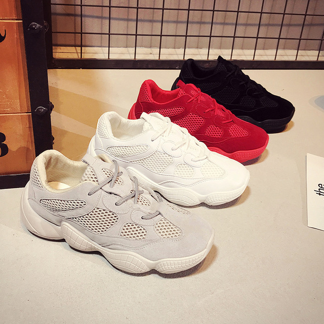 Mesh Thick Soled Shoes Woman Street Dance Sports Women Shoes Ins Autumn New Coconut Flat Ladies Running Shoes Sneakers Fitness