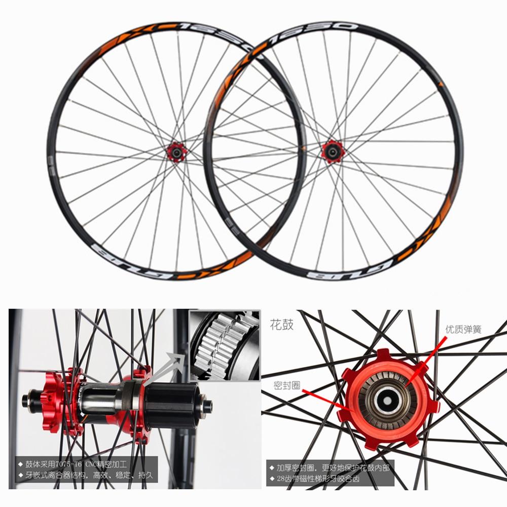 GUB XC1650 29er mountain bike mtb wheelset planetary gear ratchet wheel Clutch hub  29 inch support xx1 10 11speed 29'' wheels