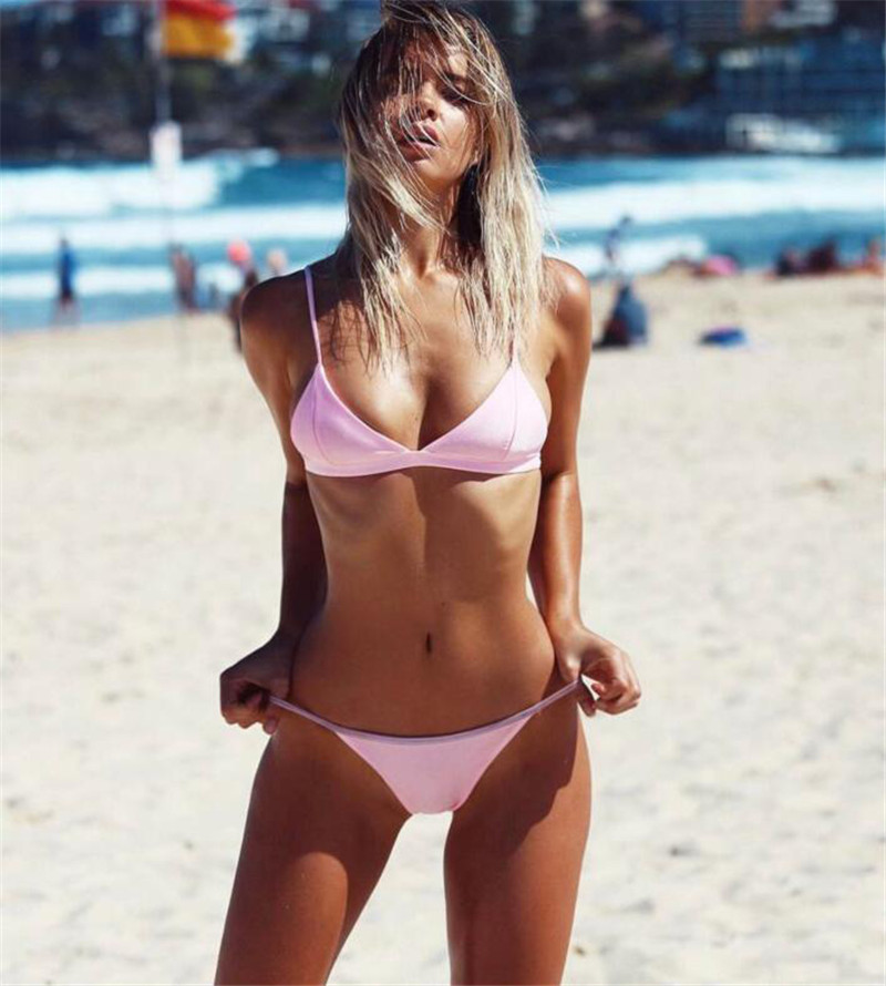 Bikini New Doubledeck flouncing Swimsuit bathing suit sexy women Low waist swiming suits Swimwear Y111