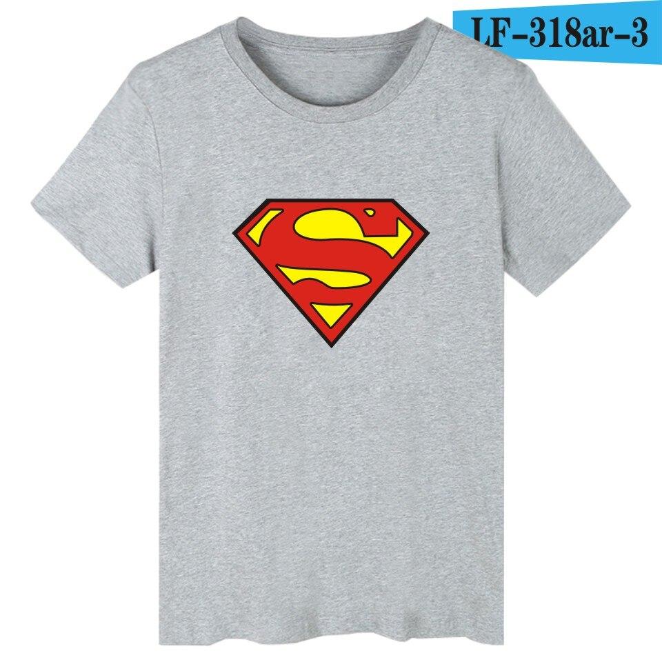 Superman Logo Dété T Shirt Hommes Drôle Imprimer Noir Court Manches Drôle Graphique T Shirts Super Homme T Shirts Blanc Coton Hommes De
