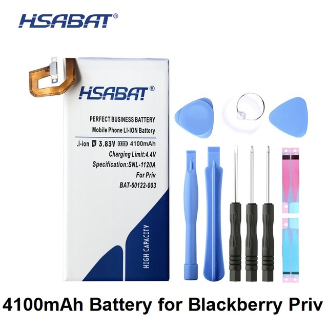 US $16 45 6% OFF|HSABAT 4100mAh BAT 60122 003 Battery for BlackBerry Priv  -in Mobile Phone Batteries from Cellphones & Telecommunications on