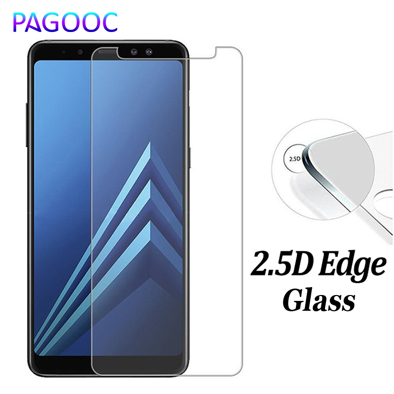 9H 2.5D Tempered Glass for Samsung Galaxy J4 J6 A6 A8 Plus 2018 Screen Protector Samsung J2 J3 J7 J8 2018 Protection Guard film(China)