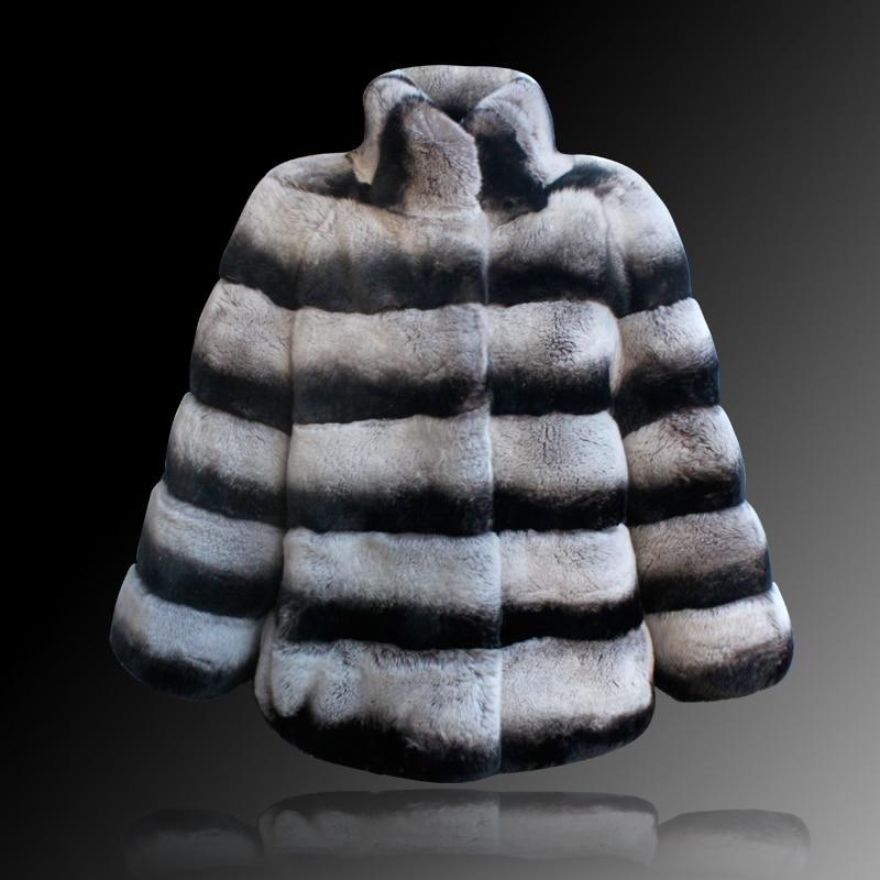 Fourrure Chaud Épais Livraison Manteaux Rabbit New Femmes Chinchilla De Naturel Hiver Vrais Phœnix Gratuite Lapin Rex 61028a Fur Veste Style qxg8w0EpnO