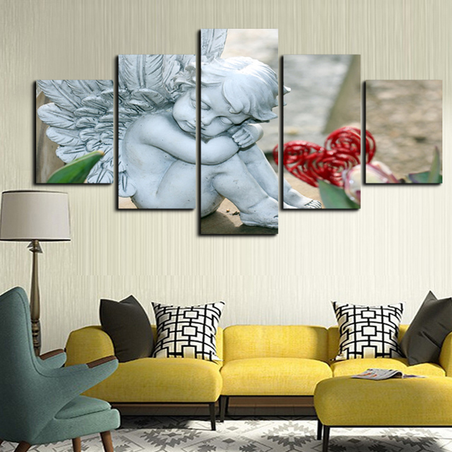 Creative Stone Portraits Printed On Canvas Painting Effect Painted Living  Room Bedroom Household Adornment Wall Gift