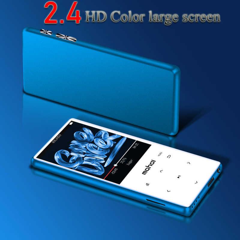 Oryginalne importowane 2.4 cal kolorowy ekran Bluetooth 4.0 mp4 odtwarzacz wsparcie nagrywania FM głośnik radiowy mediów MP4 odtwarzacz wideo