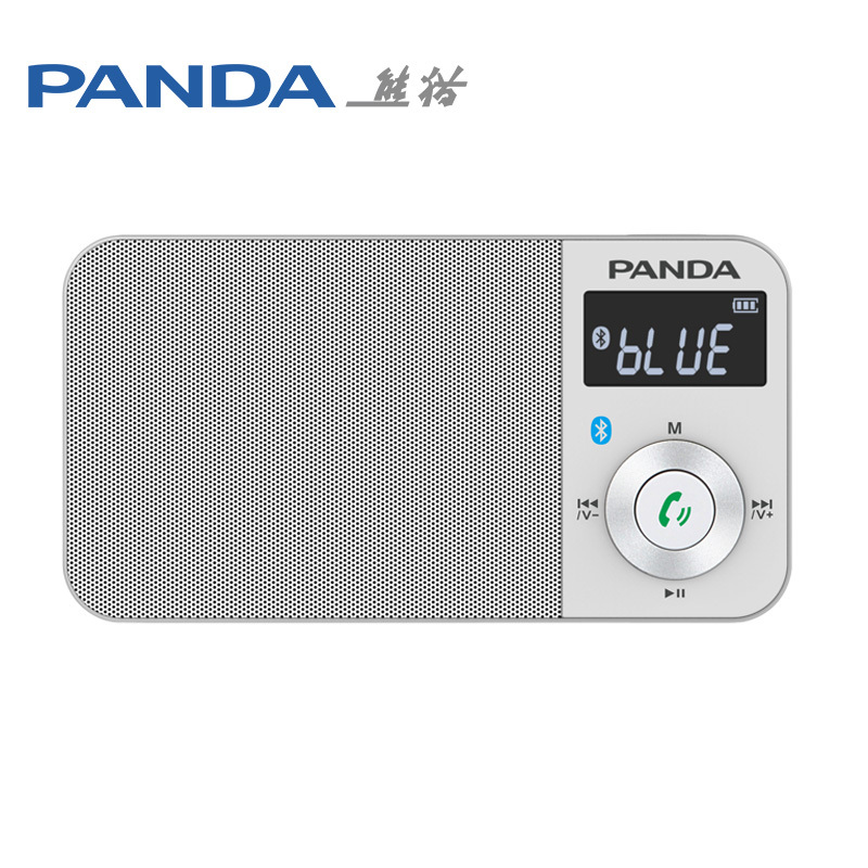 Panda 6210 Wireless Bluetooth Lithium Battery Mini Portable Handsfree Subwoofer TF Card Radio MP3 player