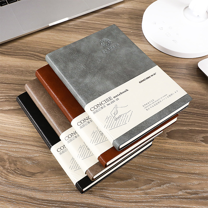 Classic vintage business office leather notebook A5 B5 thick student diary book stationery meeting notebook can be customizedClassic vintage business office leather notebook A5 B5 thick student diary book stationery meeting notebook can be customized