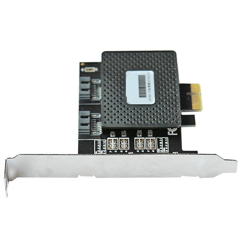 6 Gbps PCIE pci-e PCI express para 2 Portas SATA 3.0 portas de Expansao Controlador card adapter atacado