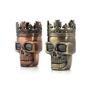 Smoke Grinder Weed Metal King Skull Tobacco Spice Herb Grinders Crusher Pollen Catcher Tabaco Acessorios Cinnamon(China)