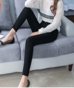 2018 automne et d'hiver nouveau style extérieur usure mince et polyvalent leggings women-Q360
