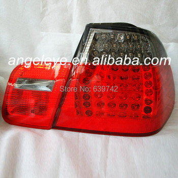 For BMW E46 LED Tail Lamp 1998 to 2001 year Red Black Color
