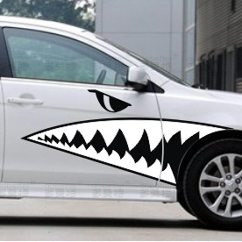 X Medium Size Tiger Shark Teeth High Quality Vinyl Decals Funny - Vinyl decals for car body