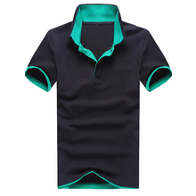 Polo shirt mens summer slim double lapel polo beads mesh breathable advertising jersey 2019 eight-color