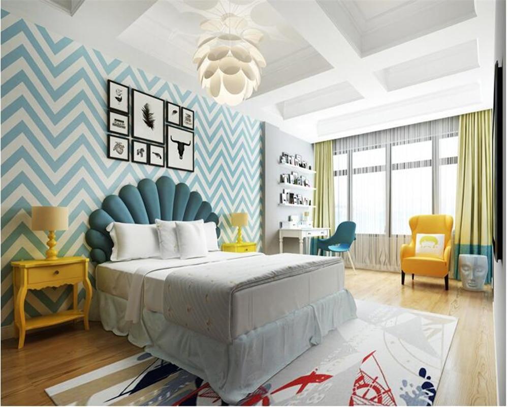 beibehang Nordic geometric wavy papier peint wallpaper Modern ...