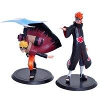 2pcs/lot Japanese Anime/Manga NARUTO Action Figures Shippuden Uzumaki Naruto Yahiko 18cm/7 PVC Mini Toys Great Gifts