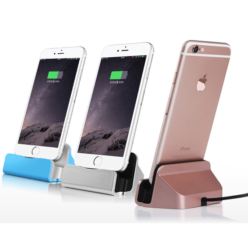78cdfac7aa0 Universal 2 IN 1 Data Android Mobile Phone Dock Charger Micro USB Type C  Docking Stand Station Cradle Charging Sync Dock